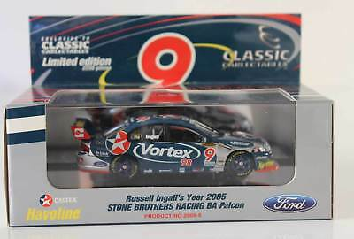 New Classic Carlectables Russell Ingall Ford BA Falcon 2005 9 1:43 2009-6