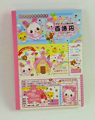 RARE Kamio Japan Sweet Paradise Large Memo Pad Stationery Kawaii