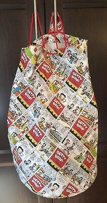 Betty Boop Comic Strip Large Multi Purpose Drawstring Bag Tote