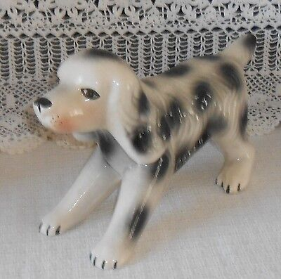 ENGLISH SETTER Bank~Vintage ~ Pink Tint Chalk-like  ~ A Fine Gift! Sweet Face