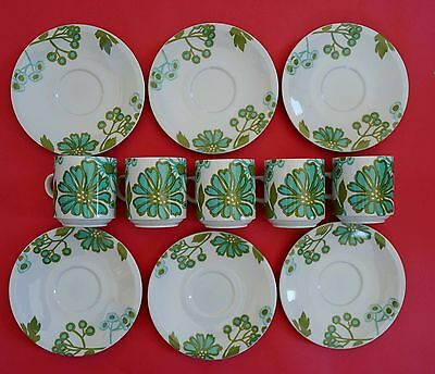Villeroy and Boch Scarlett Floral Retro Cup and Saucers Collection