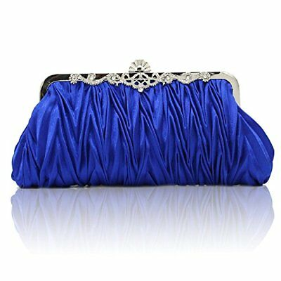 Kingluck Silk Cocktail Evening Handbags/ Clutches in Gorgeous More Colors blue