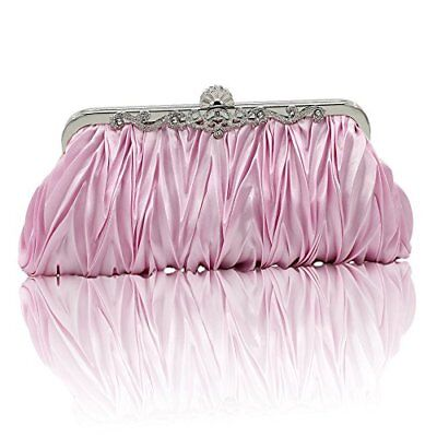 Kingluck Silk Cocktail Evening Handbags/ Clutches in Gorgeous More Colors pink