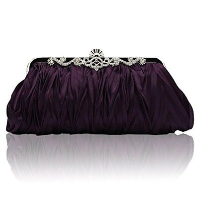 Kingluck Silk Cocktail Evening Handbags/ Clutches in Gorgeous More Colors purple