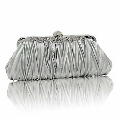Kingluck Silk Cocktail Evening Handbags/ Clutches in Gorgeous More Colors silver