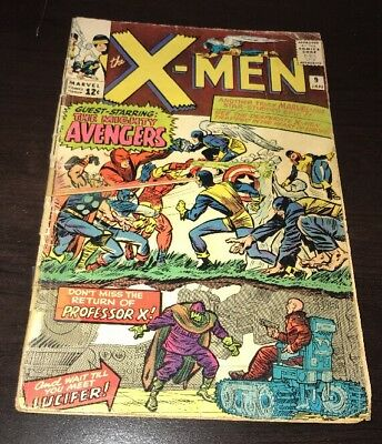 Uncanny X-Men #9 Lee/Kirby 1st Meeting With Avengers Marvel Silver Age KEY Comic
