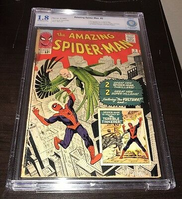 Amazing Spider-Man #2 CBCS CGC 1.8 1st Vulture 3rd Spider-Man Homecoming Movie