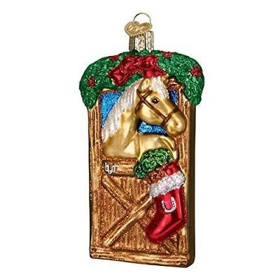 Old World Christmas Horse In Stall Glass Blown Ornament