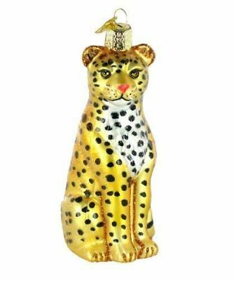 Old World Christmas Leopard Glass Blown Ornament
