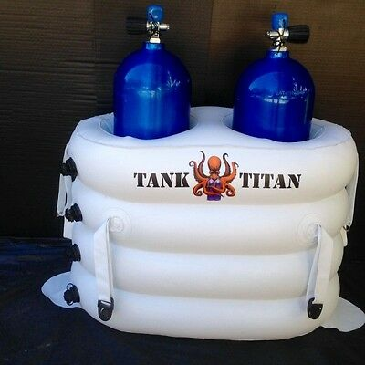 Tank Titan - Inflatable Diving Tank Holder for 2 cylinder
