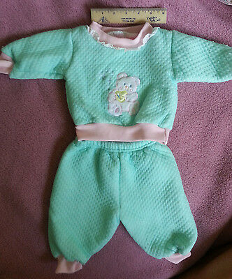 Vintage Little Girl's Matching 2 Piece, Top/pants, 3-6 Months - Bear Image