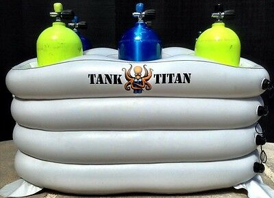 Tank Titan - Inflatable Diving Tank Holder 6 cylinder holder
