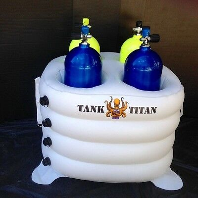 Tank Titan - Inflatable Diving Tank Holder 4 cylinder