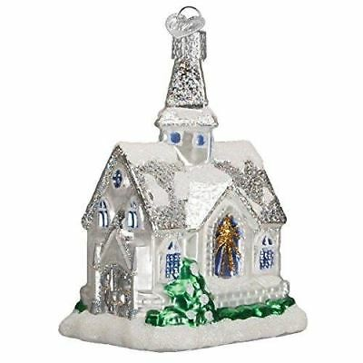 Old World Christmas Sparkling Cathedral Glass Blown Ornament