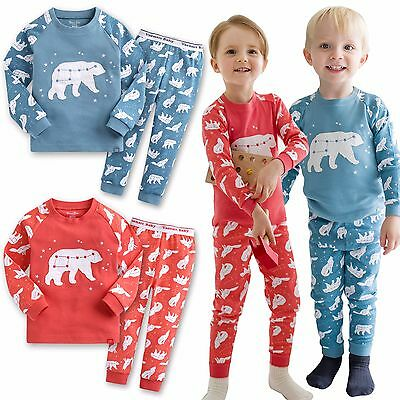 "Vaenait Baby Toddler Kids Boys Girls Clothes Pyjamas Set ""The Bear Set"" 12M-7T"