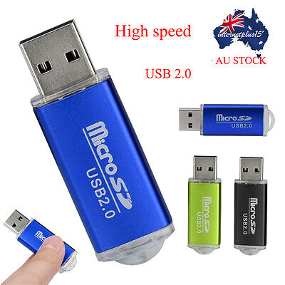 Portable High Speed USB 2.0 Micro SD SDHC Memory Card Reader Adapter Plastic