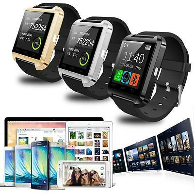 Bluetooth Smart Wrist Watch Phone Mate For IOS Android iPhone Samsung Reliable