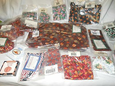 Longaberger Placemat Napkin Fall Gingham Liner Pumpkin Holly Inaugura All  Ameri