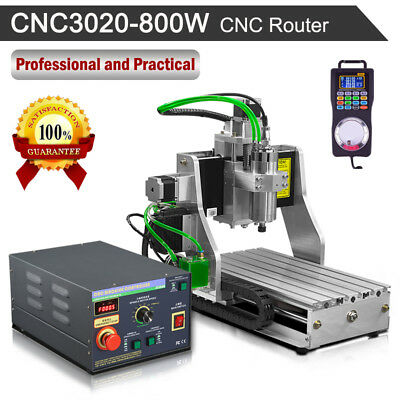 800W Spindle CNC Router Engraver 3020 Wood Jade Metal 3Axis Engraving Ballscrew