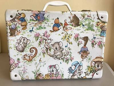 Vintage Sarah Kay Koala Possum Suitcase Trunk - Display Dolls and Teddy Bears