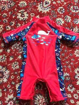Mothercare Boys All In One Boys Swimsuit Swimwear Trunks 3-6 Months