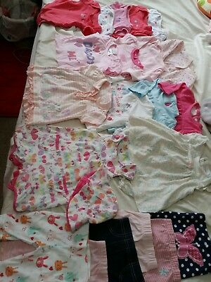 Baby girl clothes bundle size 0-3 months x 25 items