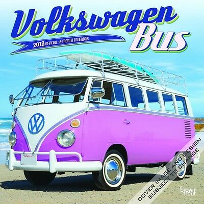 Volkswagen Bus 2018 Wall Calendar by Browntrout NEW - Postage Included