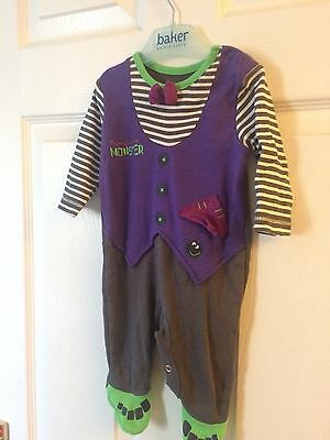 Baby boy hallowe'en monster all in one   Size 3m