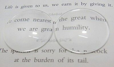 100Pcs Clear Round Glass Magnifying Cabochon Tiles 25mm Beads