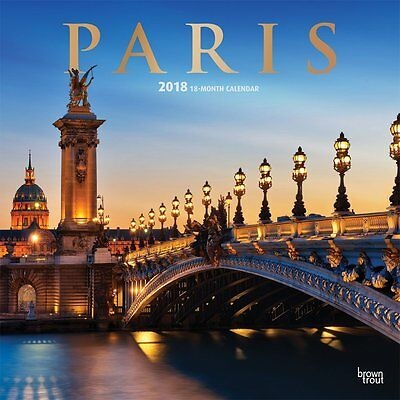 Paris 2018 Wall Calendar by Browntrout NEW - Postage Included