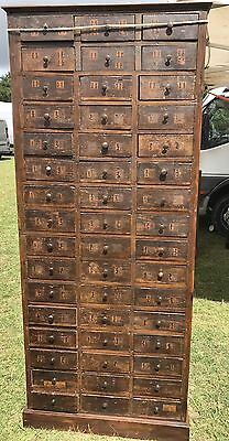 19th Century Locksmiths Bank Of Drawers/cabinet