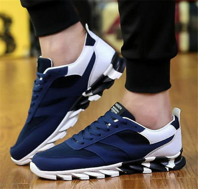 Mens Running Sneakers Canvas Walking Trainers Jogging Gym Athletic Shoes UK SIZE