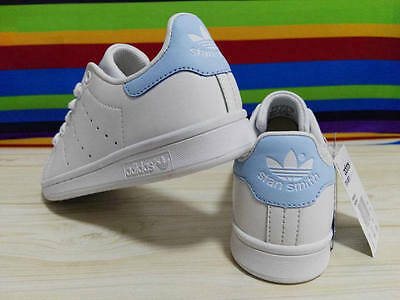 **Brand New** Women Adidas Stan Smith White Light Blue UK 4