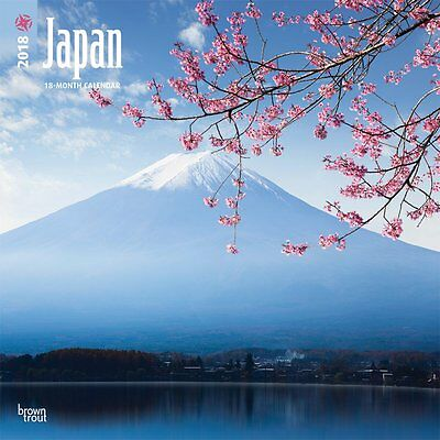 Japan 2018 Wall Calendar by Browntrout NEW - Postage Included