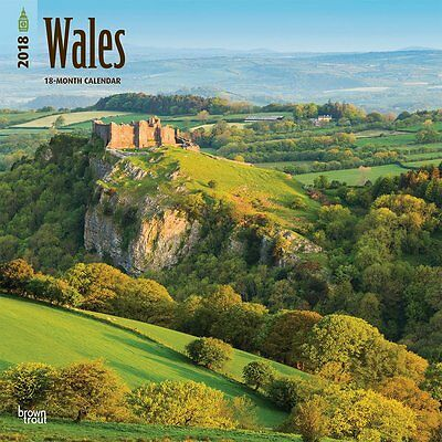 Wales 2018 Wall Calendar by Browntrout NEW - Postage Included
