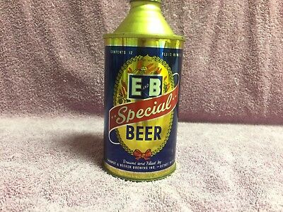 E & B Cone Top Beer Can - Empty