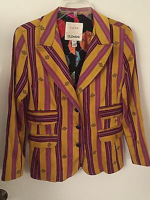 Rare Todd Oldham Early1990s Whimsical Striped Blazer Size 8
