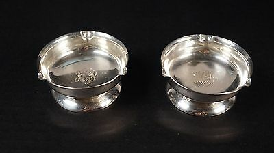 Vintage Pair 1956-59 Quaker Sterling Co. Small Round Ashtrays Nut Dishes w/Mono