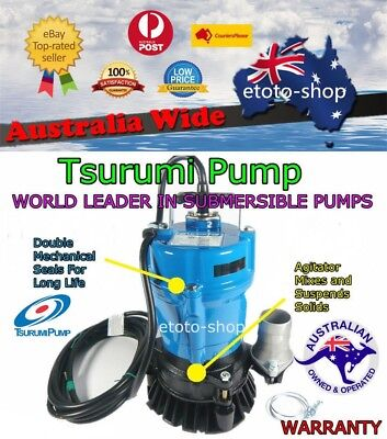 Industrial Grade TSURUMI Vortex Submersible Grey Water Drainage Sump Pump
