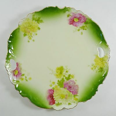Antique Chrysanthemum Plate PT Porcelain Germany 10 inch Collectible