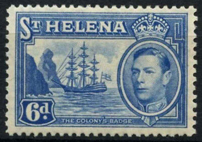 St. Helena 1938-1949 SG#136, 6d Light Blue KGVI Definitive MH #D54448