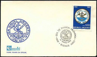 Argentina 1983 Navy Day FDC First Day Cover #C43365