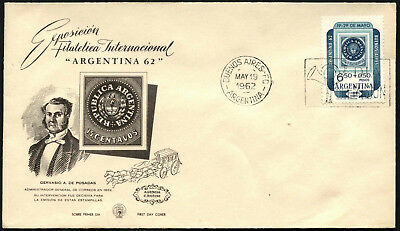 Argentina 1962 Philatelic Exhibition FDC First Day Cover #C43389