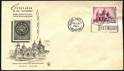 Argentina 1961 Philatelic Exhibition FDC First Day Cover #C43390
