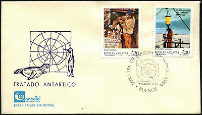 Argentina 1987 Antarctic Treaty FDC First Day Cover #C43416