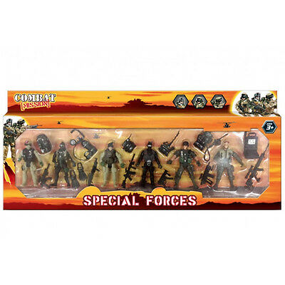6Pc Army Figurines With Accessories Military Unit Combat Mission Soldier New