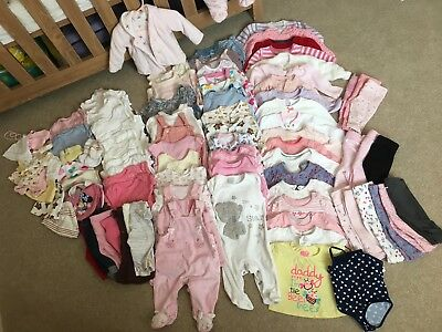 Baby Girl Bundle 99 ITEMS! 0-3 Months
