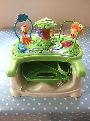 Fisher Price Rainforest Booster Seat with detachable straps and tray.