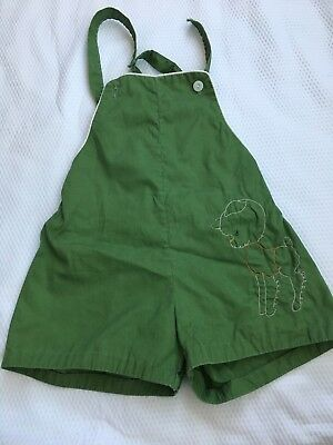 Toddler Boys Vintage Romper 3t  2t Green