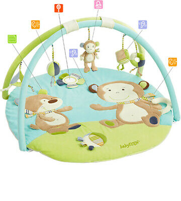 babyFehn 3-D-Activity-Decke Affe Monkey Donkey